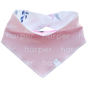 Bandana Bib - Personalized Polyester - blush (LIMITED EDITION)