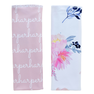 Personalized Double-sided Polyester  Burp Cloths / blush / set of 2 (LIMITED EDITION)