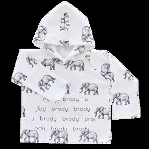Personalized Pocket Hoodie - elephants