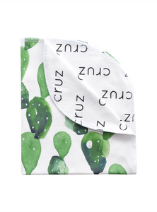 Personalized Double-Sided Organic Blanket - cactus