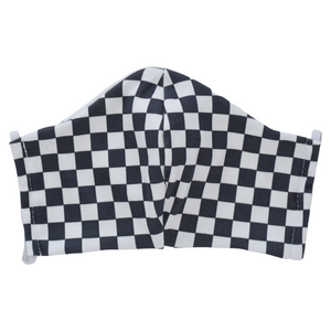 Mask - Stylish Masks with Filter Pocket – B&W Checkered