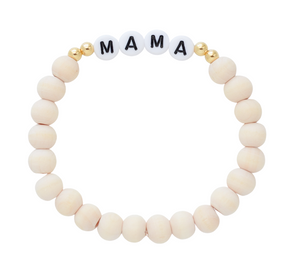 Mama Bead Bracelets – natural collection – gold sides