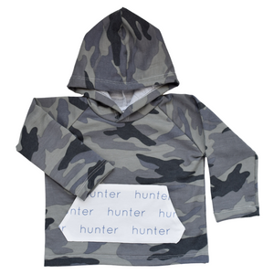 Personalized Pocket Hoodie - camo