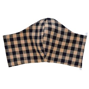 Mask - Stylish Masks with Filter Pocket – brown gingham