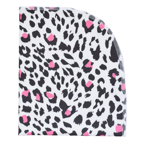 Organic Blanket - leopard (pink)