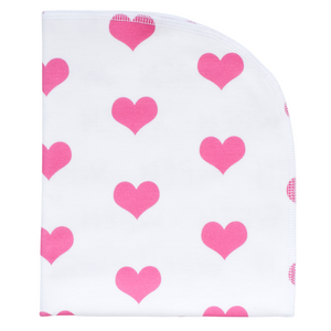 Organic Blanket - hearts (2 colors)