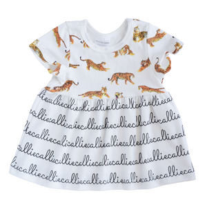Personalized Sleeved Dress - tigers