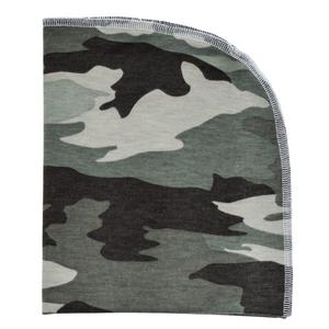 Organic Blanket - camo green