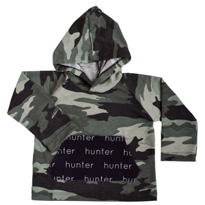 Personalized Pocket Hoodie - camo green
