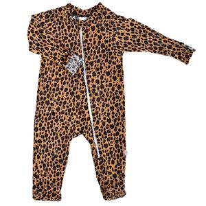 Zip Footie - leopard