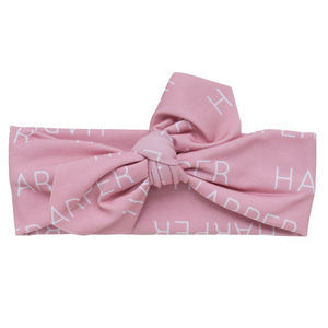 Personalized Knotted Polyester Headwrap - leopard (blush)