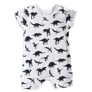 Shorts Romper - dinosaurs