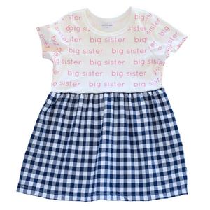Big Sister Sleeved Dress - gingham