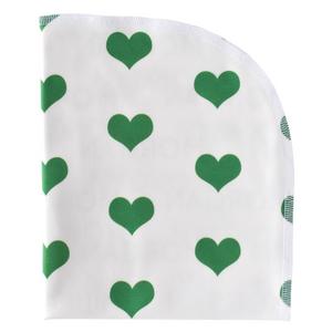 Organic Blanket - hearts - St. Patrick's Day