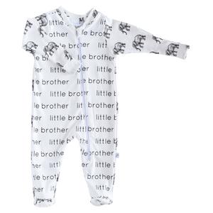 Little Brother Zip Footie - elephants