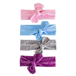 Personalized Polyester Knotted Headwrap