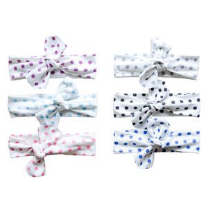 Organic Knotted Headwraps - polka dots (7 colors)
