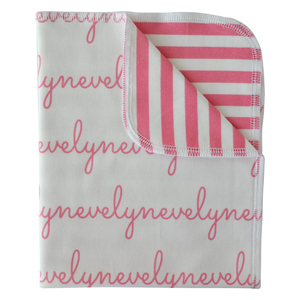 Personalized Double-Sided Organic Blanket - stripes