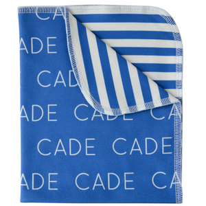 Personalized Double-Sided Polyester Blanket - Stripes