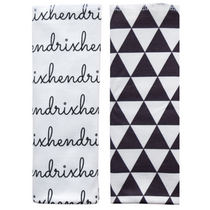 Personalized Double-Sided Burp Cloths / Pyramids / set of 2