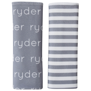 Personalized Double-Sided Burp Cloths / Poly Stripes / set of 2