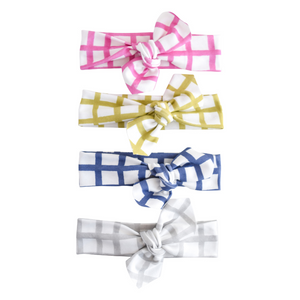 DOOR BUSTER - Organic Knotted Headwrap - grid