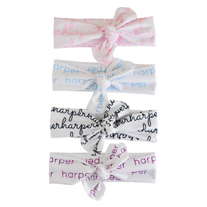 Organic Personalized Knotted Headwrap