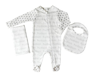 Personalized Baby Starter Essentials Combo