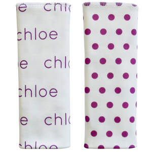 Personalized Double-Sided Burp Cloths / Polka Dots / set of 2