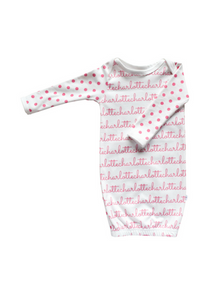 Personalized Gown - polka dots (7 colors)