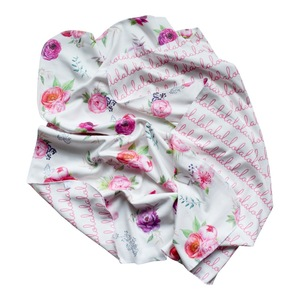 Personalized Double-Sided Organic Blanket - Peony