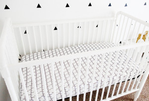 Organic Crib Sheet - Personalized (6 colors)