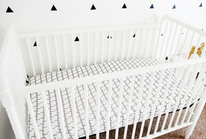 Organic Crib Sheet - Personalized 6 colors