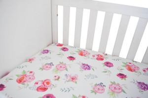 Organic Crib Sheet - 3 florals