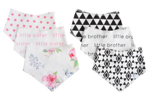 Bandana Bib - Sibling Collection - set of 3