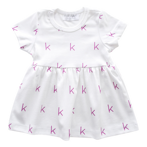 Personalized Sleeved Dress - initials (7 colors)