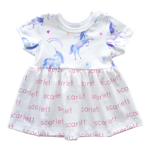 Personalized Unicorn Dress