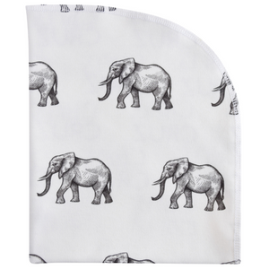 Organic Blanket - elephants