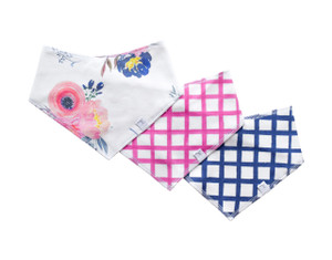 Bandana Bibs / midnight blush / set of 3