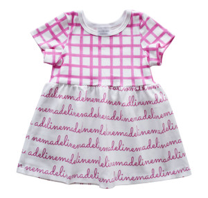 Personalized Madeline Plum Grid Dress