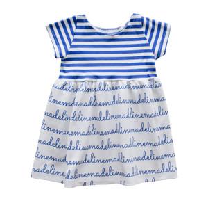 Personalized Madeline Cobalt Stripe Dress