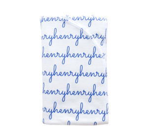 Personalized Henry Cobalt Blanket - large