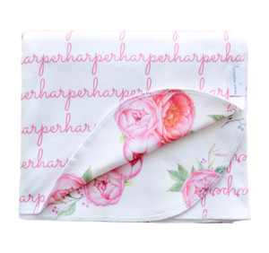 Personalized Harper Peony Double-Sided Blanket - standard (SALE)