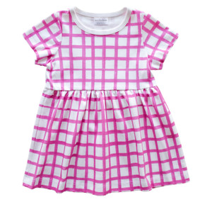 Grid Dress - plum