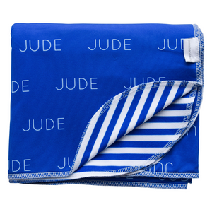Personalized Jude Stripes Double-Sided Blanket - standard (SALE)