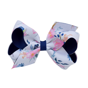 Midnight Blush Grosgrain Bow - medium