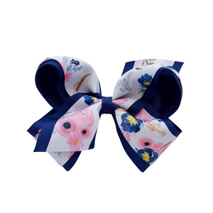 Grosgrain Bow / midnight blush / king