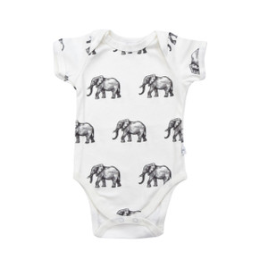 Snapped Bodysuit - elephants