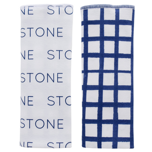 Personalized Double-sided Organic Burp Cloths / grid / set of 2