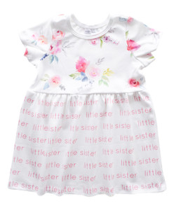 Little Sister Sleeved Dress - blooming garden